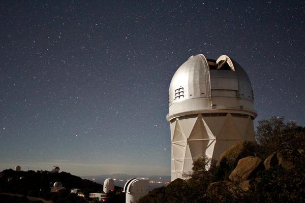 Large telescope outdoors