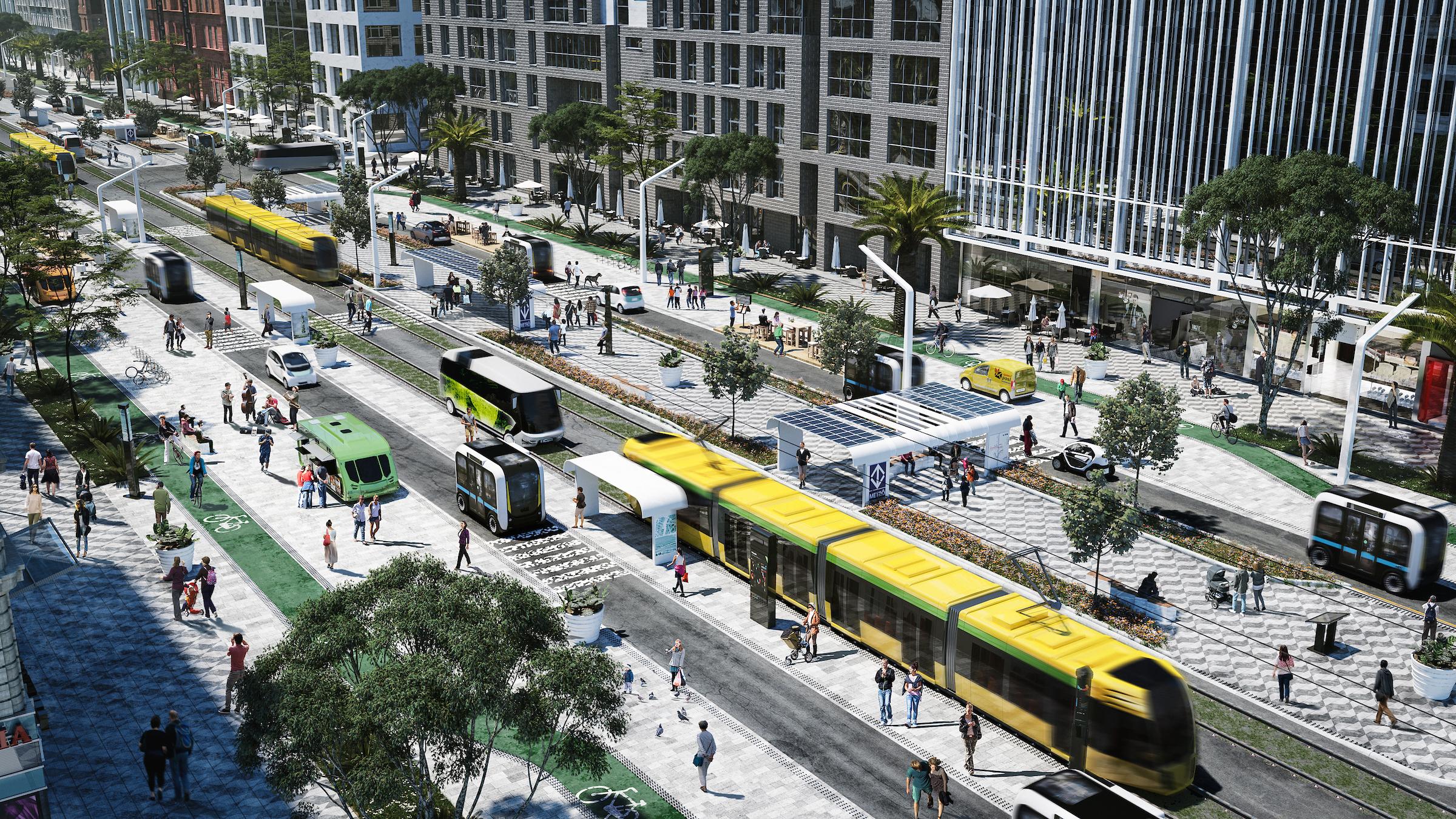 Rendering for autonomous urbanism