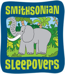 Cartoon logo featuring elephant