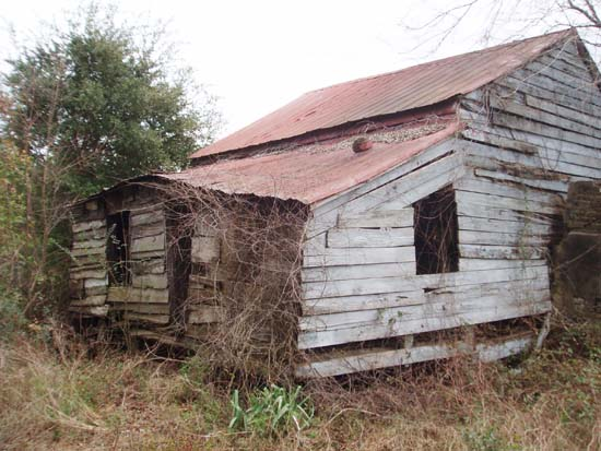 Point of Pines Plantation slave cabin