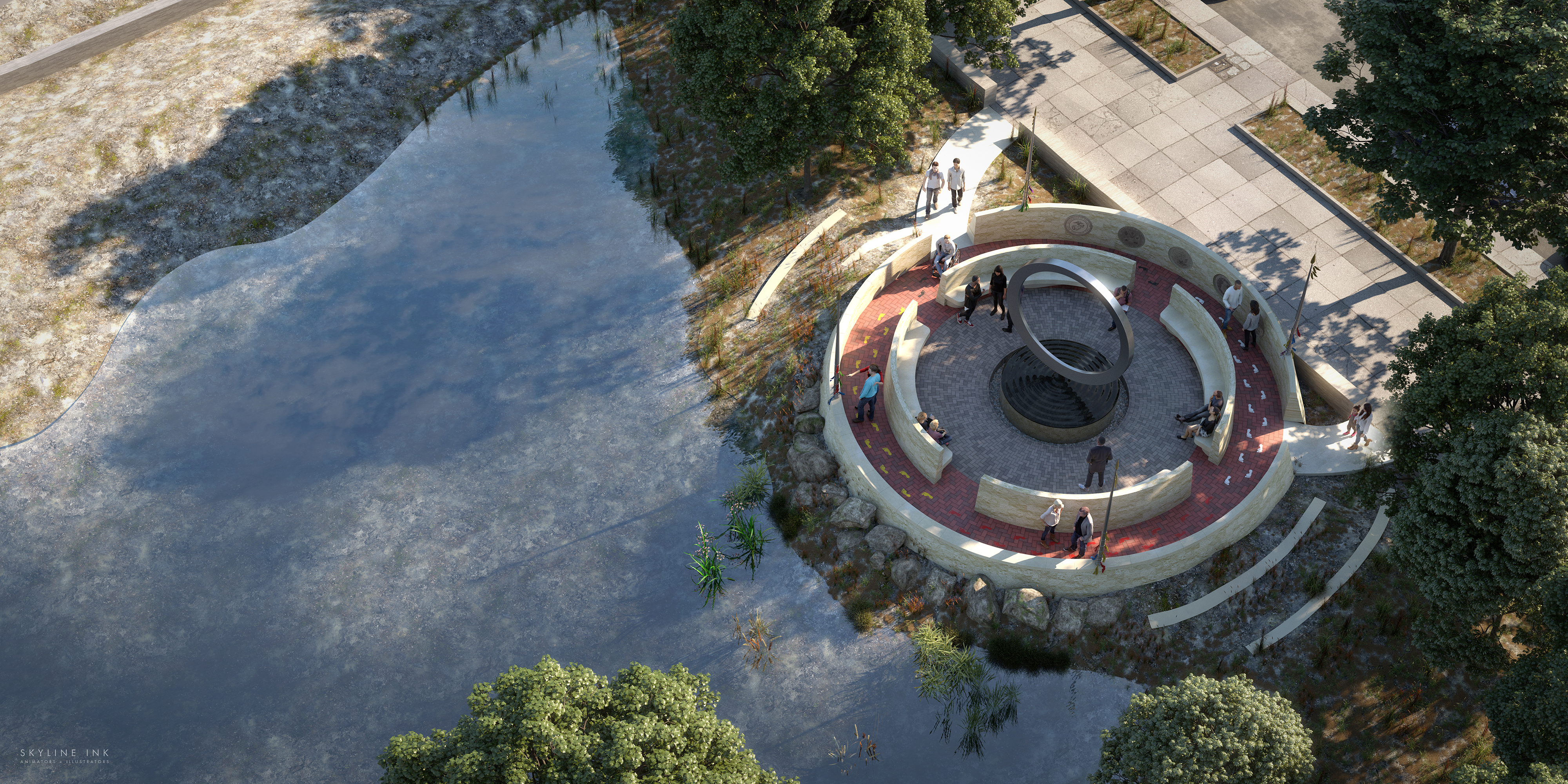 Rendering of National Native American Veterans Memorial