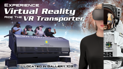 Virtual reality simulator graphic with text