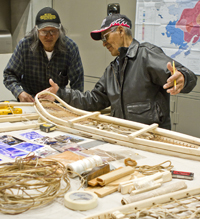 Men speaking in indigenous language
