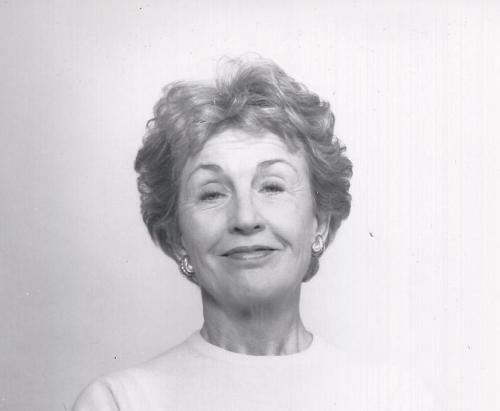 Black and white photo of Margaret Robson