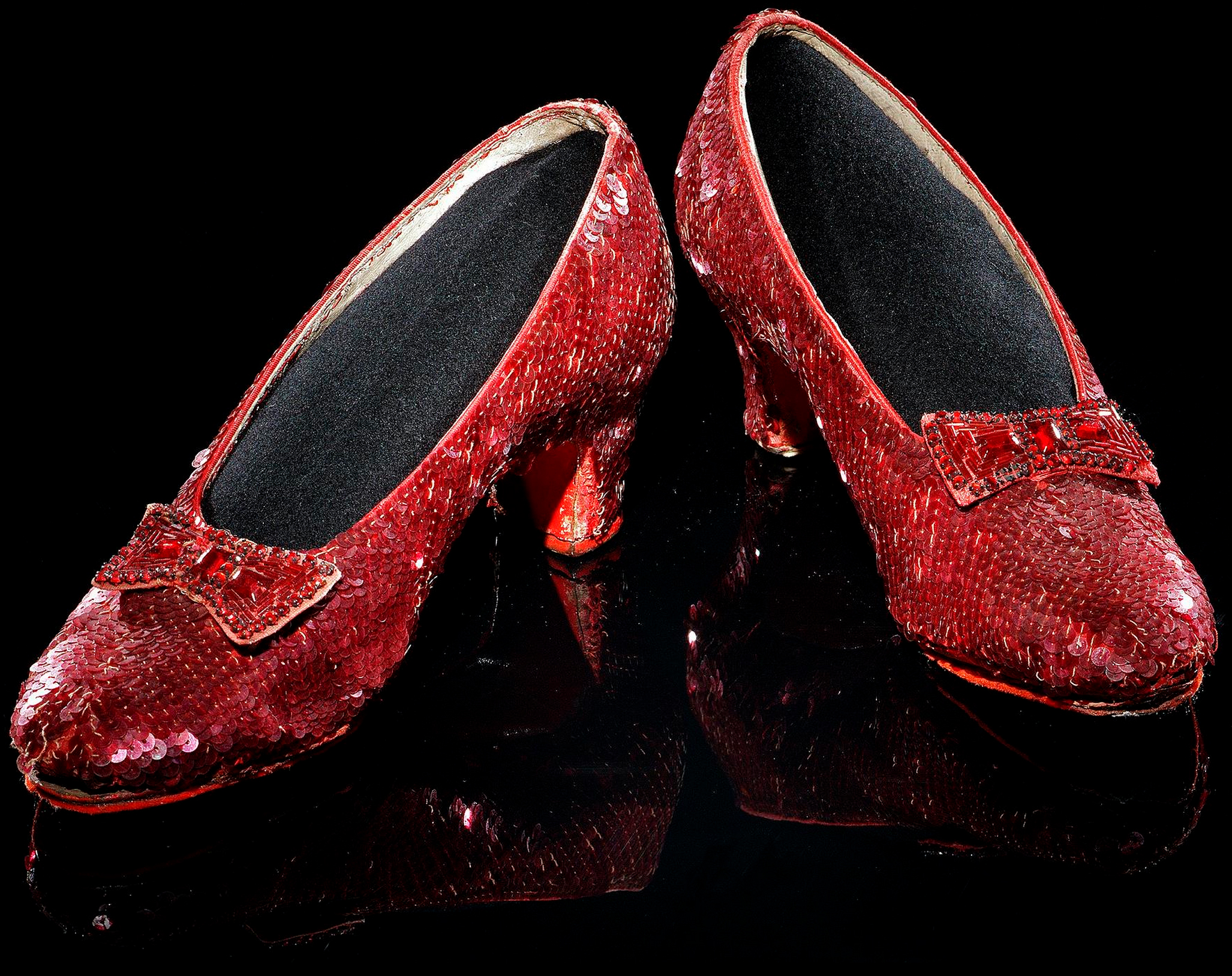 museum photos of ruby slippers from movie The Wizard of Oz