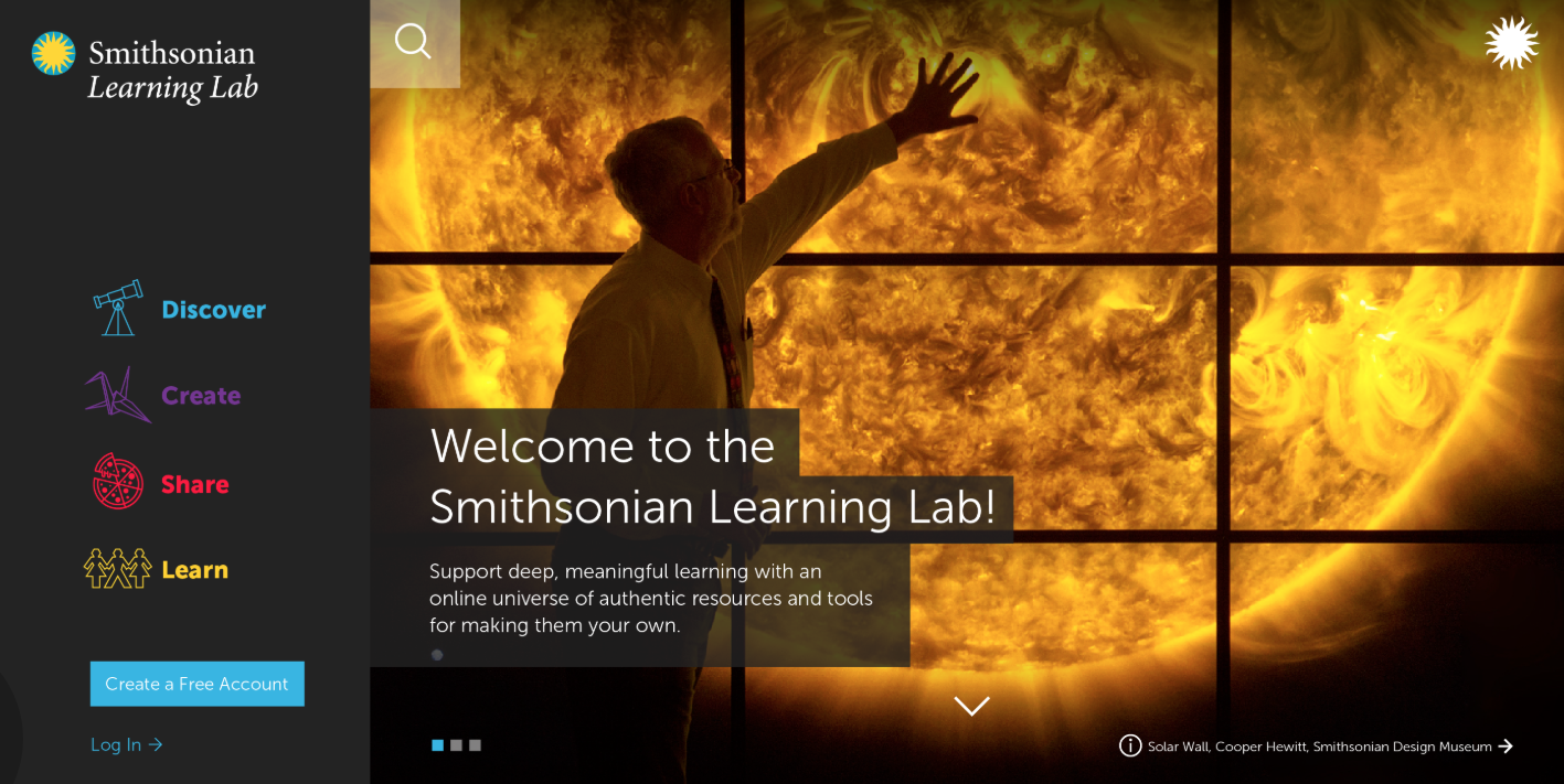 Smithsonian Learning Lab Named Best Education Website in the 23rd Annual Webby Awards