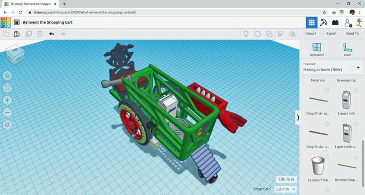 Screenshot of SparkLab activity