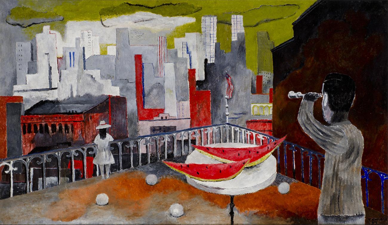 Abstract painting by Rufino Tamayo