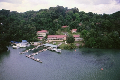 Aerial view of Smithsonian Tropical Research Institute, Panama