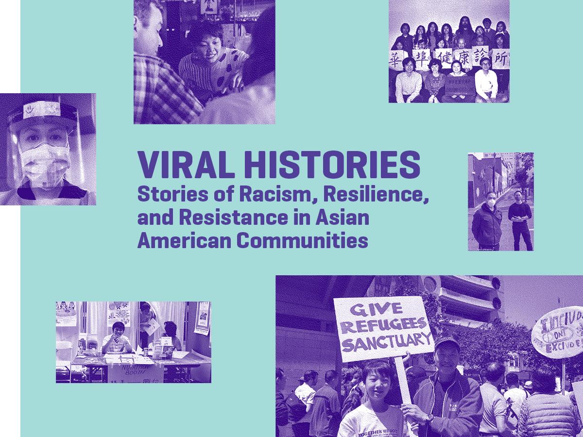 Graphic logo for Viral Histories program