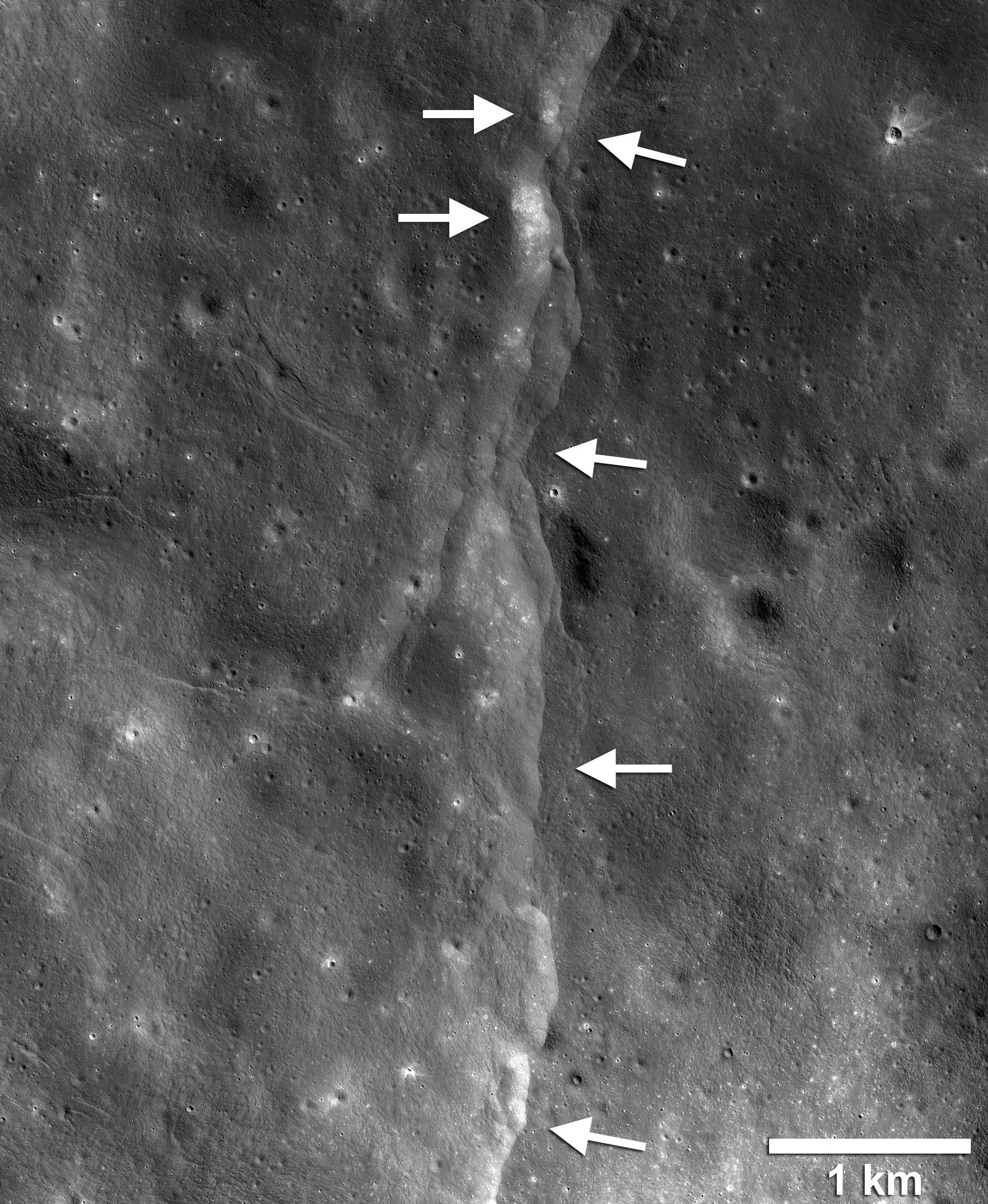 Bruchzone auf dem Mond