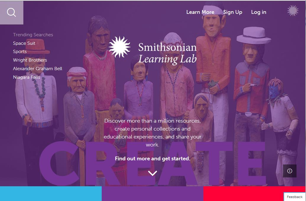 Screenshot of Learning Lab website