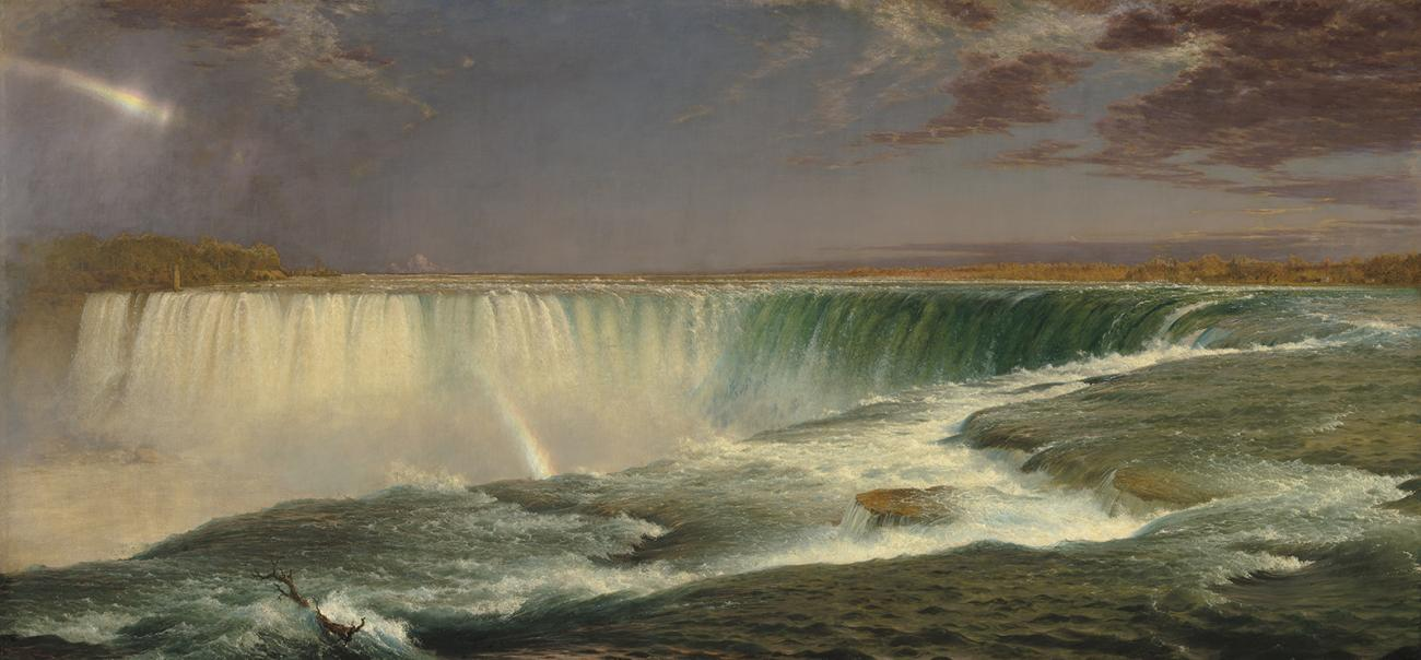 Frederic Edwin Church, Niagara, 1857, oil on canvas, 40 × 90 1/2 in., National Gallery of Art, Corcoran Collection (Museum Purchase, Gallery Fund).