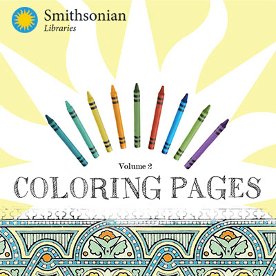 Smithsonian Libraries crayons and coloring sheets
