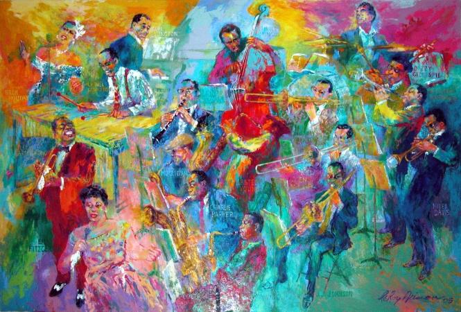 """LeRoy Neiman's """"Big Band"""""""