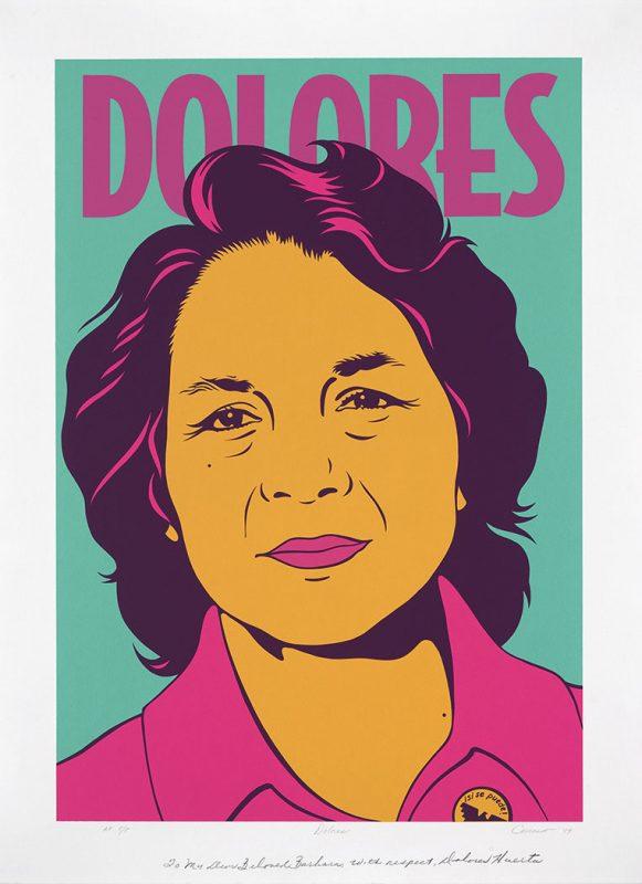 Dolores Huerta by Barbara Carrasco. Silkscreen 1999. National Portrait Gallery,