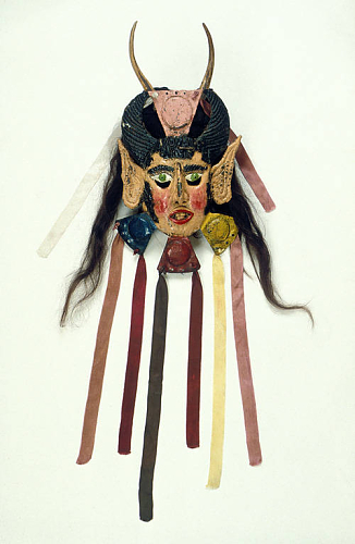 Painted copper mask