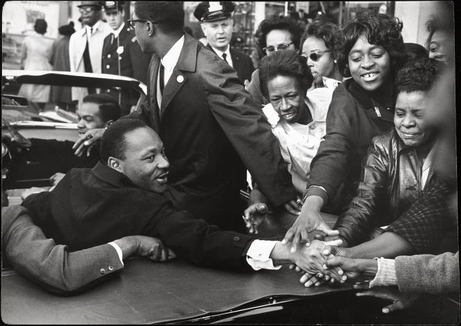 Martin Luther King Jr. by Leonard Freed, gelatin silver print, 1964