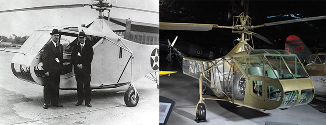 Sikorsky XR-4 Helicopter, then and now