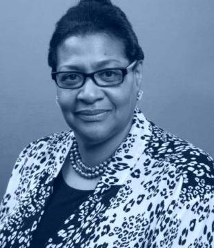 Black and white photo of Deborah Mack