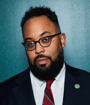 Kevin Young with head titled