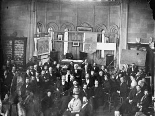 National Academy of Sciences Meeting, Smithsonian Castle, 1874