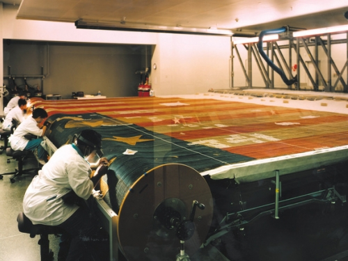 Star Spangled Banner Conservation Lab, American History Museum