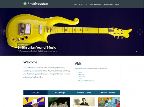 Image of Smithsonian website