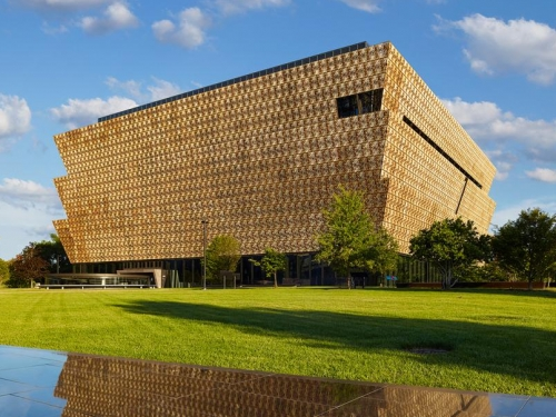 National Museum of African American History and Culture building on the National Mall