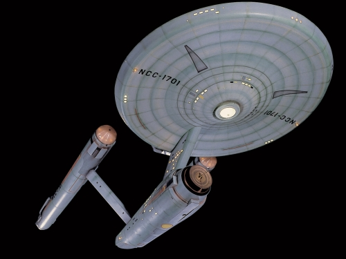 Model of Starship Enterprise
