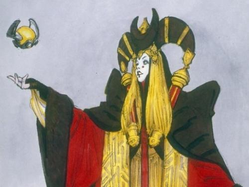 Concept Art Queen Amidala Senate Gown Star Wars™: The Phantom Menace