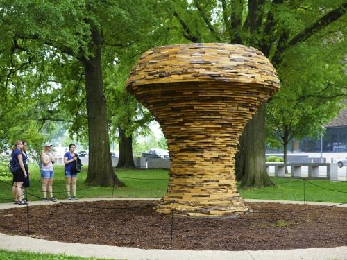 Mushroom sculpture at Life Underground