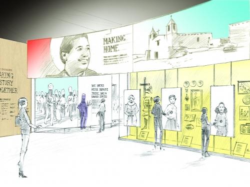 Gallery entrance rendering