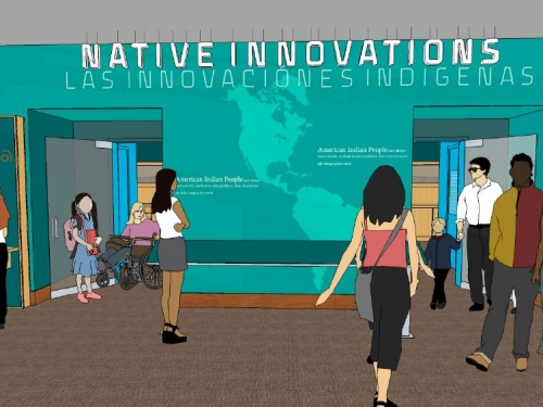 Artists rendering of entry to imagiNATIONS