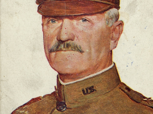 postcard with portrait pf Pershing
