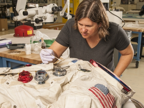 Armstrong's Apollo 11 Space Suit in Conservation