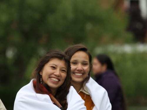 Two smiling young women