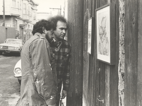 Carlos Loarca and Rupert García in Balmy Alley