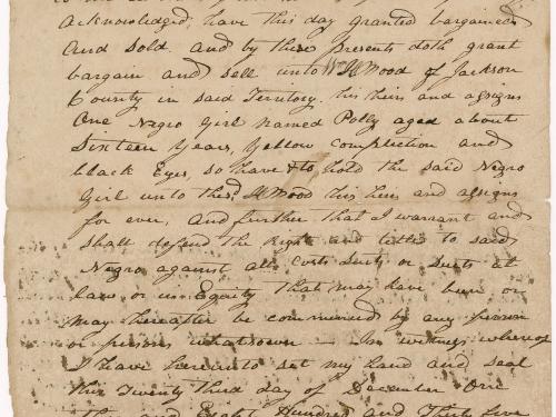 Handwritten document