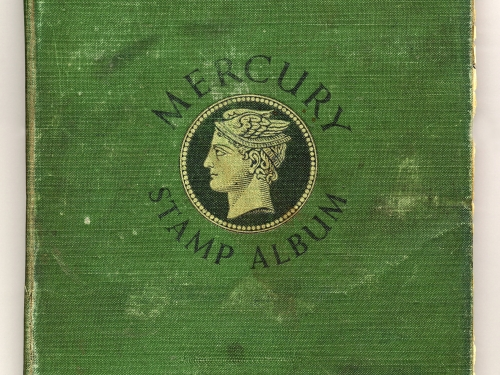 Cover of green stamp album