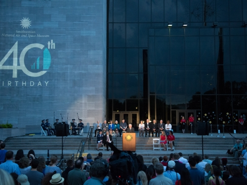 40th anniversary ceremony outside museum