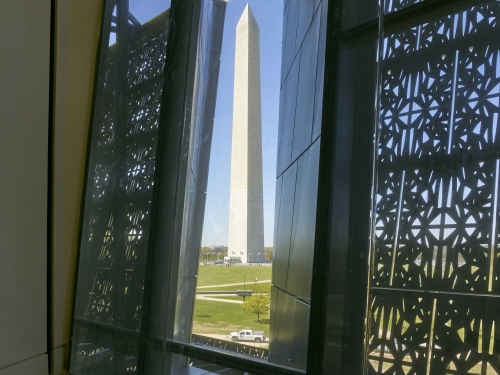 The Washington Monument seen from the museum interior