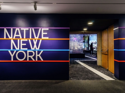 Entrance to Native New York exhibit