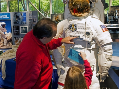 Family activities at Air and Space Museum