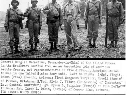 General Douglas MacArthur, commander-in-chief of the Allied forces in the South