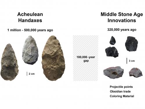 Comparison of stone axes