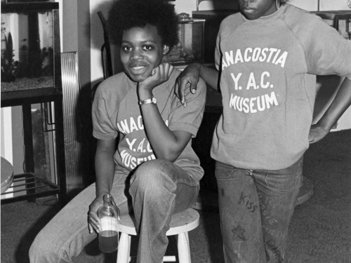 Two boys with afros
