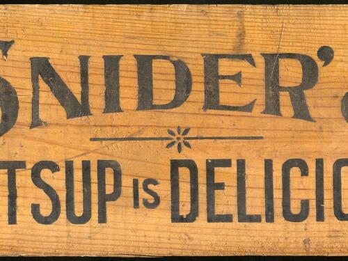 historic catsup (ketchup) sign