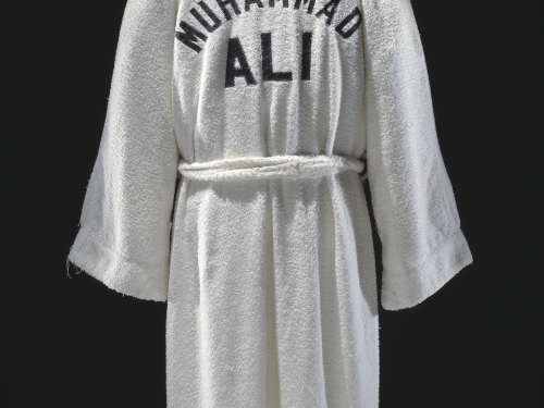 Ali's white boxing robe