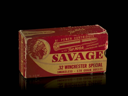 Box of Savage brand ammunition